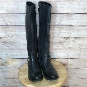 Steve Madden Synicle Black Tall Riding Boots